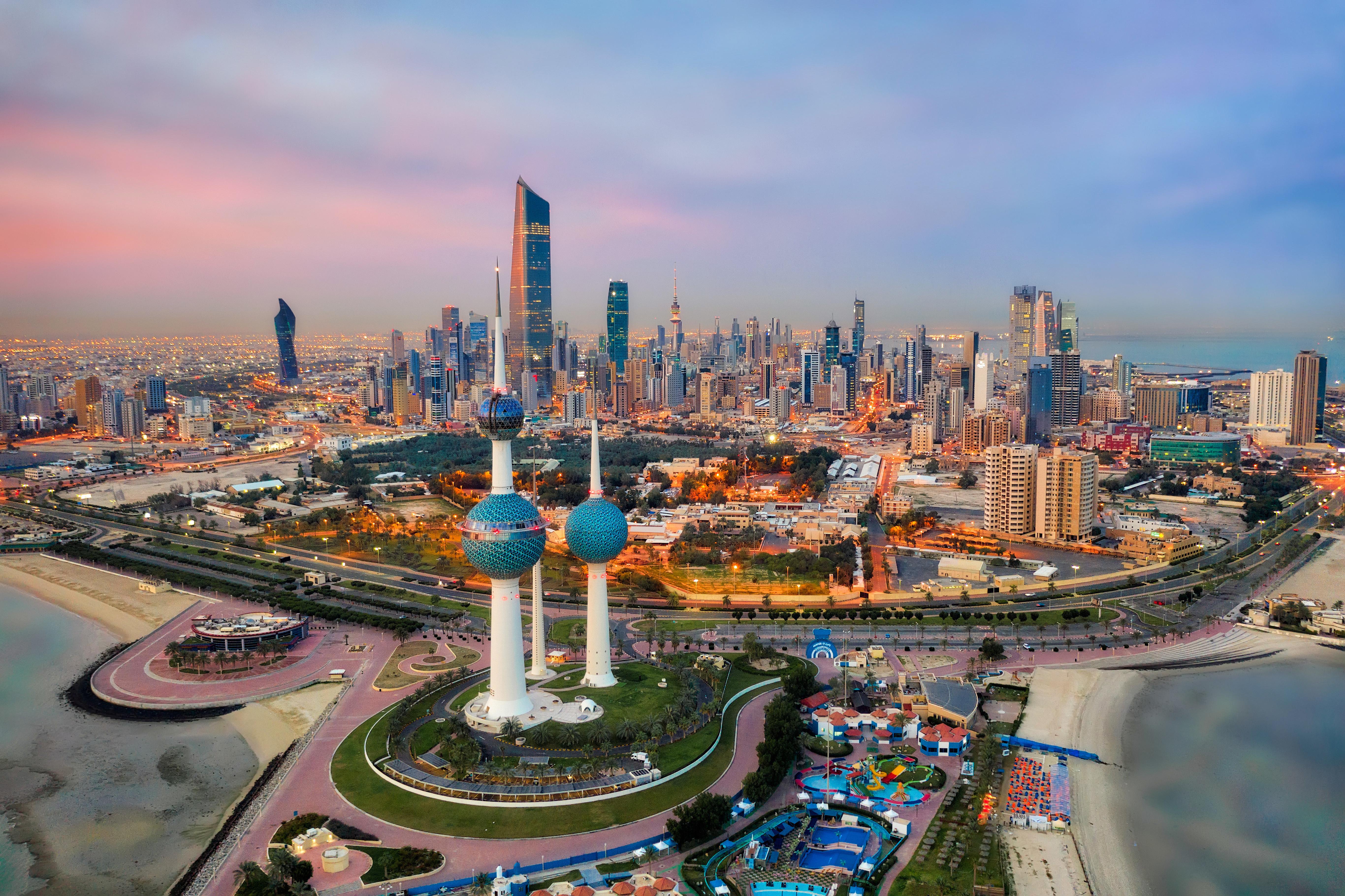 Kuwait Tower City Skyline